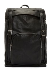 Saint Laurent Tuscany Washed Leather Hunter Backpack Black