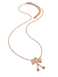 Folli Follie Bow Rose Gold Necklace