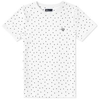 Fred Perry Shadow Polka Dot Tee White