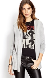 Forever 21 Hooded Cardigan Heather Grey
