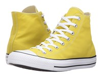 Converse Chuck Taylor All Star Seasonal Color Hi Bitter Lemon Lace Up Casual Shoes Yellow