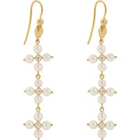 Cathy Waterman Women's Diamond And Pearl Triple Drop Earrings No Color