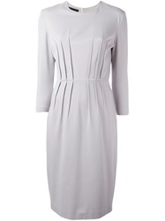 Les Copains Ribbed Detailing Dress Grey
