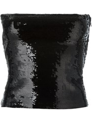 Saint Laurent Sequin Embellished Boob Tube Black
