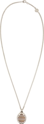 Maison Martin Margiela Silver And Natural Stone Fine Chain Necklace
