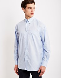 The Idle Man Long Sleeve Oxford Shirt Blue