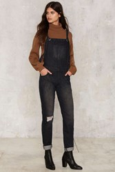 Glamorous Over It Denim Overalls Black