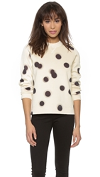 Marc By Marc Jacobs Blurred Dot Sweatshirt White Multi
