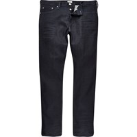 River Island Mens Dark Blue Wash Dylan Slim Fit Jeans