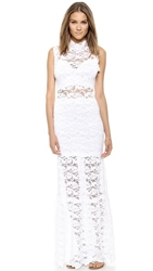 Nightcap Clothing Dixie Lace Cutout Maxi Dress White