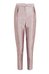 Topshop Petite Satin Twill Peg Trousers Pink