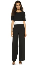 Black Halo Leilani 2 Piece Colorblock Jumpsuit Black Sugar