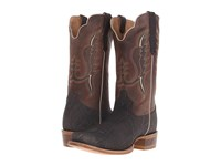 Old West Boots 60008 Chocolate Elephant Print Alamo Cafe Cowboy Boots Brown