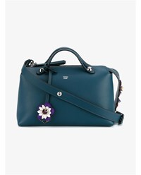 Fendi Small Leather Floral By The Way Bag Blue Multi Coloured