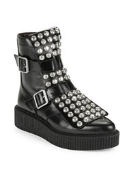 Marc By Marc Jacobs Bowery Studded Leather Ankle Boots Black