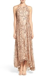 Aidan Mattox Women's Sequin Embroidered Lace And Silk Gown