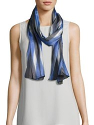 Eileen Fisher Silk Shibori Scarf India Sky