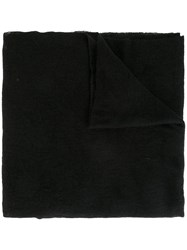 Poeme Bohemien Raw Edge Scarf Black
