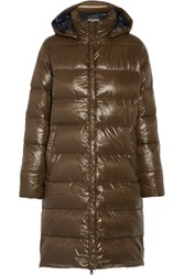 Duvetica Deneb Hooded Padded Shell Down Coat Army Green