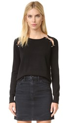 The Kooples Clip Detail Pullover Black