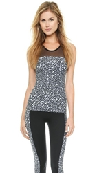 Solow Animal Print Tank Top Grey Leopard