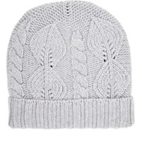 Barneys New York Men's Cable Knit Beanie Grey