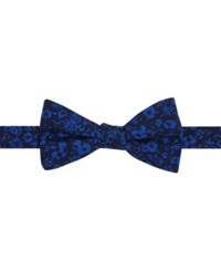 Tommy Hilfiger Men's Printed Floral To Tie Bow Tie Navy