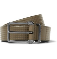 Alexander Mcqueen 3Cm Green Studded Leather Belt Green
