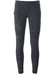 Monreal London Biker Print Leggings Grey