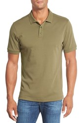 Men's Nordstrom Regular Fit Interlock Knit Polo Olive Night