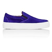 Barneys New York Men's Slip On Sneakers Purple