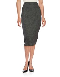 Dkny Linen Pencil Skirt Black