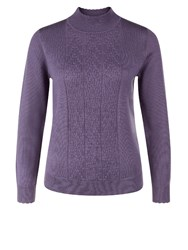 Eastex Cable Turtle Neck Sweater Purple
