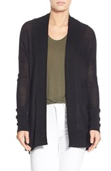 Trouve Women's Open Front Knit Cardigan Black