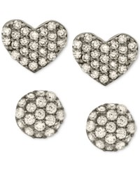 Giani Bernini 2 Pc. Set Cubic Zirconia Pave Stud Earrings In Sterling Silver Only At Macy's