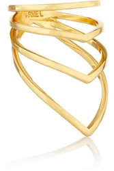 Arme De L'amour Chevron Gold Plated Ring