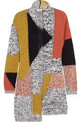 Etro Color Block Cotton Blend Cardigan