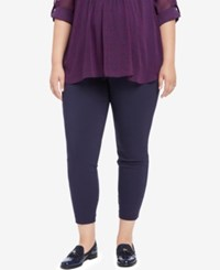 Motherhood Maternity Plus Size Cropped Skinny Pants Navy