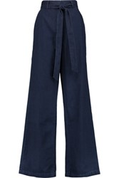 Iris And Ink High Rise Wide Leg Jeans Dark Denim