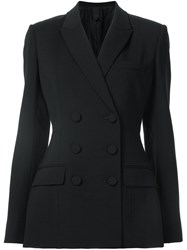 Vera Wang Corseted Double Breasted Jacket Black