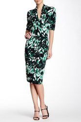 Pink Tartan Marble Blouson Dress Green