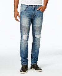 Inc International Concepts Men's Medium Blue Wash Skinny Jeans Only At Macy's Medium Wash