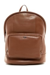 Cole Haan Leather Laptop Backpack Brown