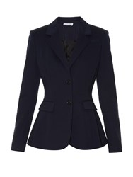 Altuzarra Fenice Notch Lapel Single Breasted Blazer Navy