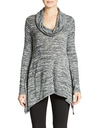 Dkny Cowl Neck Sweater Cable Cream