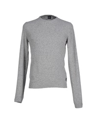 Boss Black Sweaters Light Grey