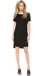 Alexander Wang Classic Slub Boat Neck Dress Black