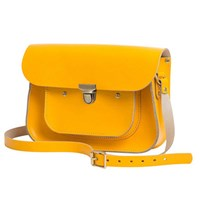 N'damus London Lemon 11 Inches Mini Pocket Satchel Yellow Orange