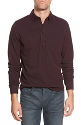 Bonobos Standard Fit Long Sleeve Pique Polo Shirt Merlot