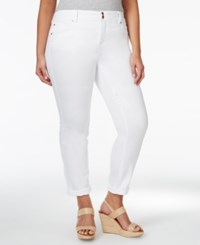 Inc International Concepts Plus Size Boyfriend Jeans White